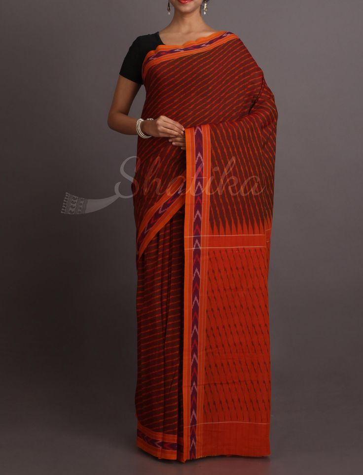 Shanaya Move Earthen Pure Ikat Cotton Saree
