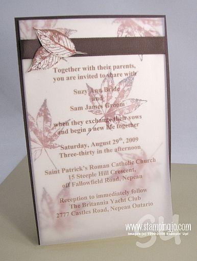 Wedding Invitations | Josee Smuck-Stampin' Up! Canada Demonstrator