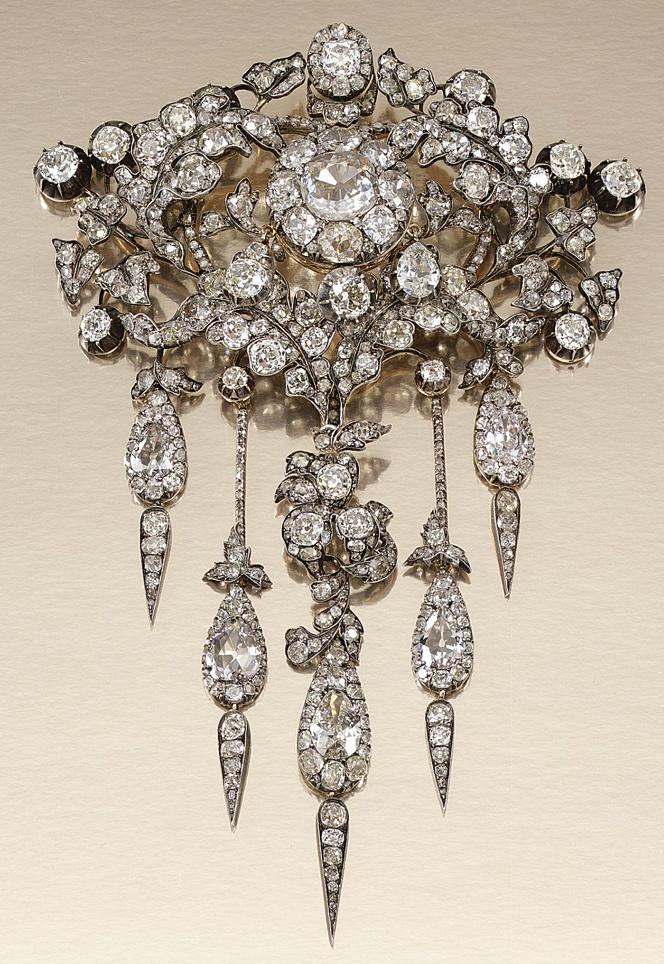 Diamond Devant De Corsage, 1860's.