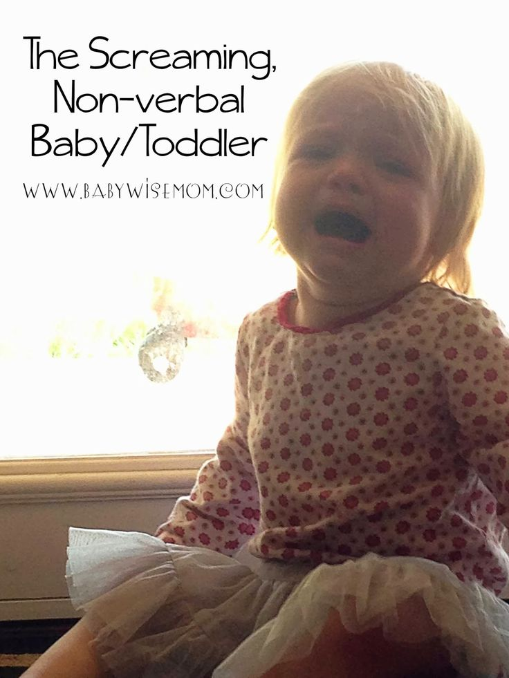 The Screaming Non-Verbal Baby/Toddler--how to cut back on the screaming and crying!