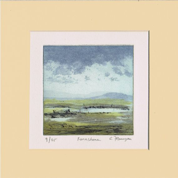 Irish Landscape Art Print on Fabriano paper by AidanFlanaganArt