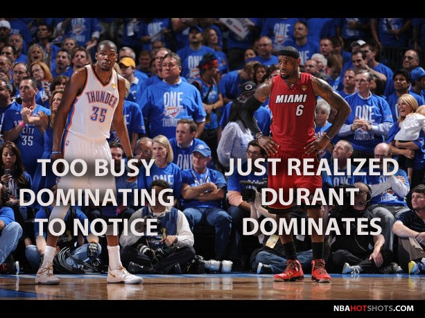 Durant will always dominate LeBron