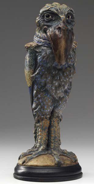 Grotesque Bird Stoneware Jar http://en.wikicollecting.org/martin-brothers-pottery