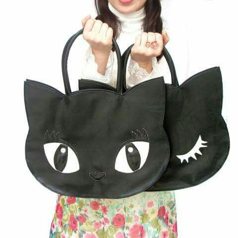Cute cat eyes bag