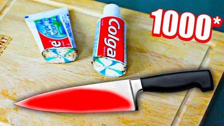 ЭКСПЕРИМЕНТ Раскаленный НОЖ 1000 градусов VS зубная паста | EXPERIMENT G...