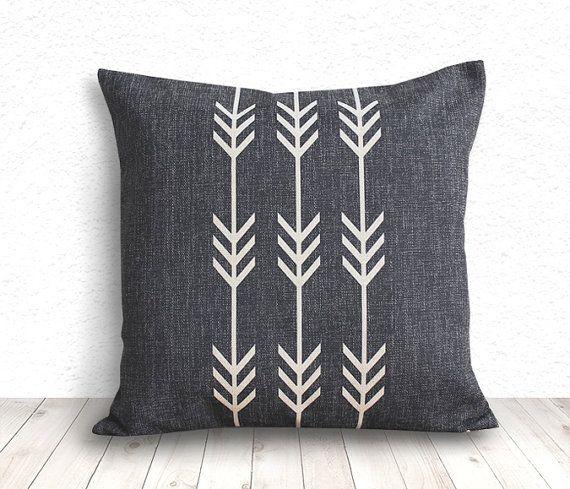 Geometric Pillow Cover, Pillow Cover, Tribal Pillow Cover, Linen Pillow Cove
