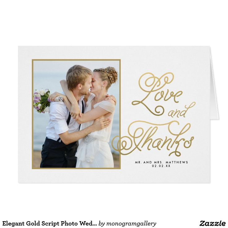 30 best Wedding Thank You Cards images on Pinterest Bridal - wedding thank you note