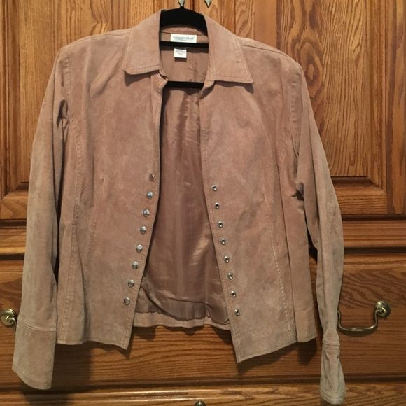 ‼️Final markdown‼️Coldwater Creek Suede jacket Awesome lined suede jacket from Coldwater Creek. I have so many jackets and I have worn this only a handful of times. Great for the cold weather coming! Snap front Coldwater Creek Jackets & Coats
