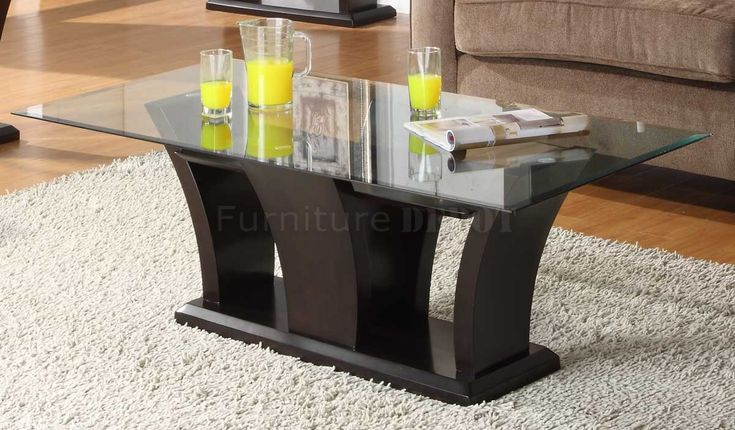 Espresso Coffee Table with Glass top - Affordable Living Room Sets Check more at http://www.buzzfolders.com/espresso-coffee-table-with-glass-top/