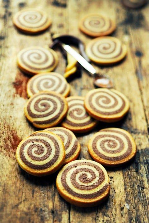 Chocolate Vanilla Spiral Cookies Recipe