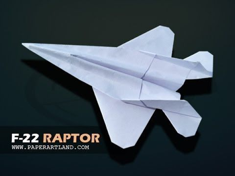 How to make a COOL paper plane that flies Over 100 Feet | F-22 Raptor - YouTube