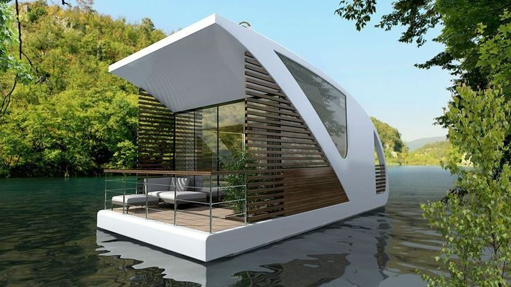 "Image via Designboom For some reason (A widespread housing shortage maybe? Our need to ""escape""?), designers and property developers have been cooking up a bunch of a fantastical floating homes..."
