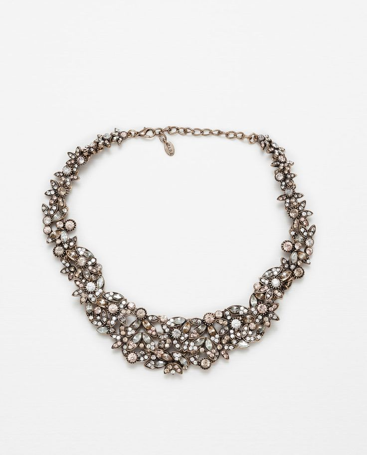 NECKLACE WITH COLORFUL CRYSTALS-Jewellery-Accessories-WOMAN | ZARA United States