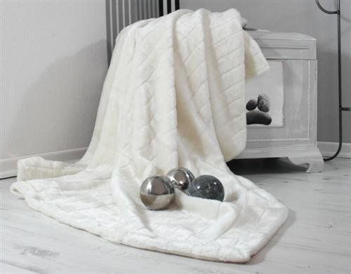 soft mink faux fur sofa throw bed cover blanket 210 x 280cm white by hussen discount http. Black Bedroom Furniture Sets. Home Design Ideas