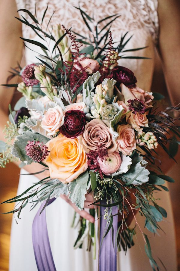Romantic blush bouquet by Everything and More Events, photo by VUE photography | via junebugweddings.com