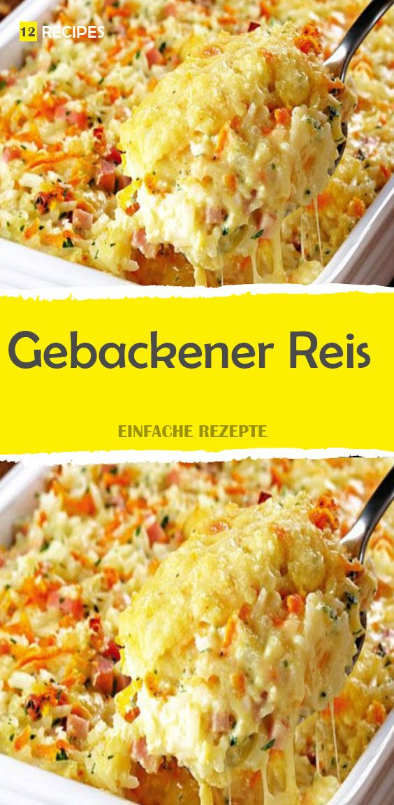 Gebackener Reis   – Backen