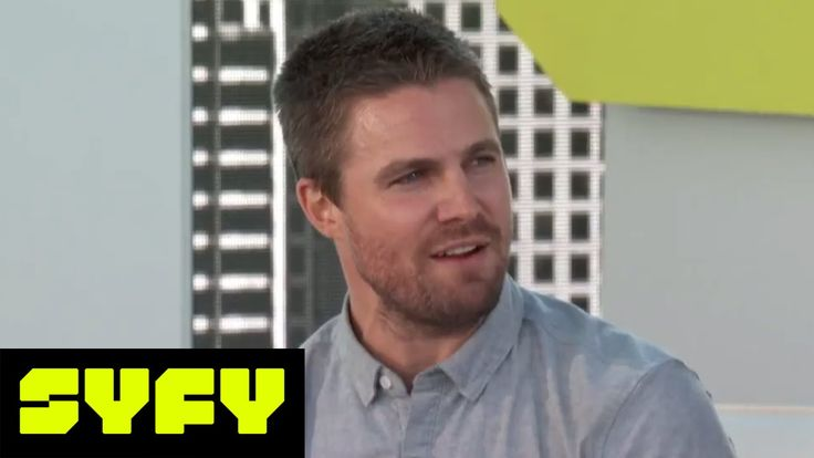SYFY LIVE FROM COMIC-CON   Will Arrow's Stephen Amell Be On Men's Health Magazine Next?    SYFY - YouTube