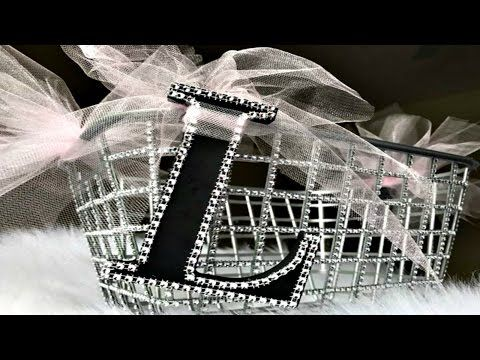 Dollar tree diy dollar tree personalized bling storage basket glam storage diy easter basket youtube negle Gallery