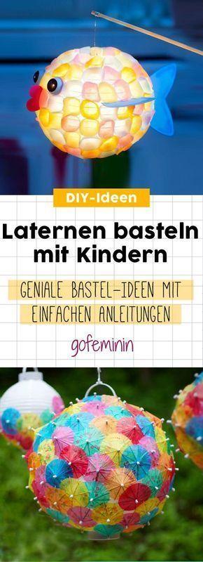 Mit Kindern Laternen machen: 5 geniale und einfache Ideen   – Herbst: Bastelideen, DIY Projekte, Deko, Rezepte