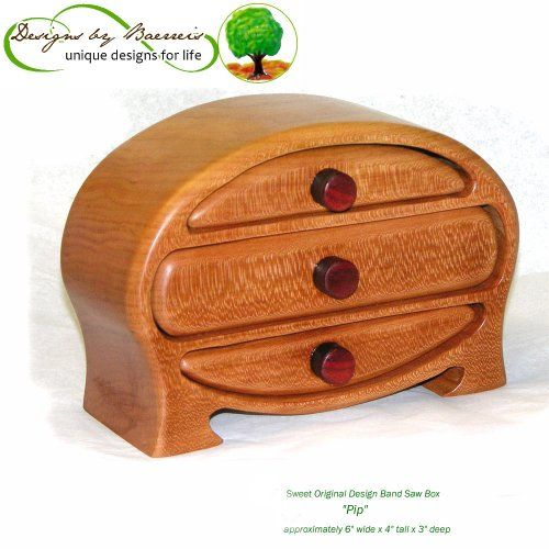 "Band Saw Boxes and Instructions | Baerreis Band Saw Box - Small Oval Dresser Top Box ""Pip"" Style ..."