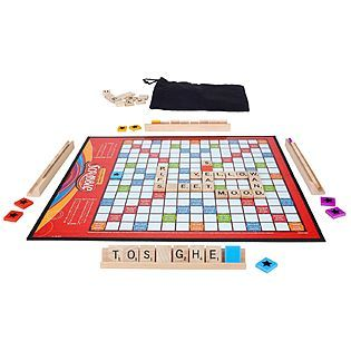 Scrabble - one of my childhood favorites and we actually don't have this game! Save with this Kmart Toy Coupon: $3 off $10 Toy Purchase	http://bargainbriana.com/kmart-3-off-10-toy-purchase-printable-coupon/  (expires 12/24) #kmartfab15