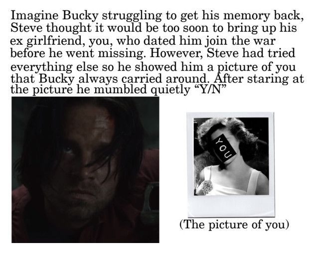 """Imagine Bucky Struggling To Get His Memory Back ..."" by alyssaclair-winchester ❤ liked on Polyvore"