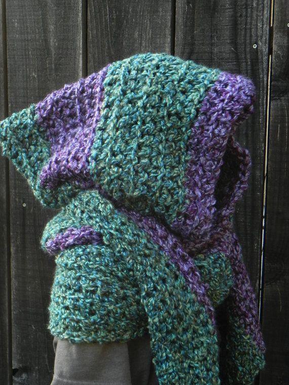 Easy Crochet Pattern, Hooded Scarf, Scoodie Hoodie, crochet hat pattern, DIY Crochet Pattern scarf