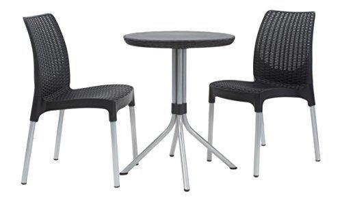 Oferta: 84.75€ Dto: -29%. Comprar Ofertas de Keter Chelsea - Set de dos sillas y una mesa redonda, color grafito barato. ¡Mira las ofertas!