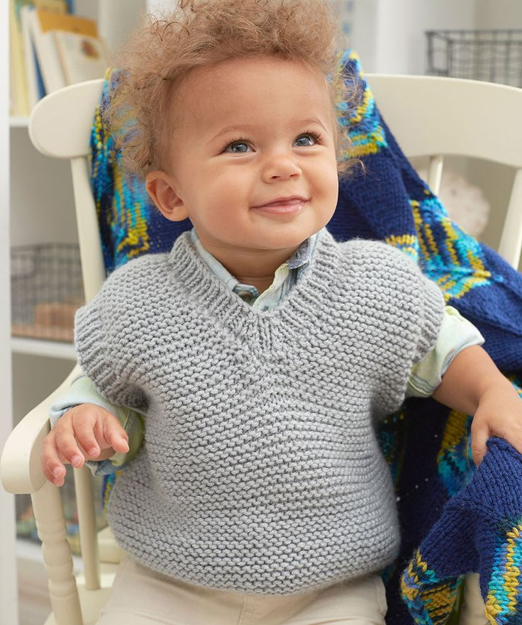 Baby's Play Vest Free and Easy Knitting Pattern   Baby boy ...