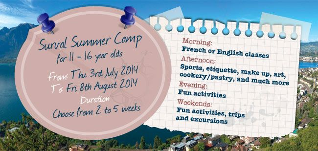 Unique Summer Camp at Surval Montreux - the best boarding school in Switzerland!  http://www.surval.ch/summer-and-winter-camps/summer-camp/