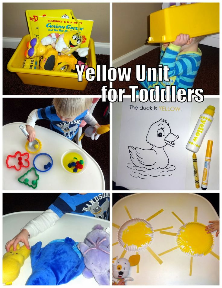 Yellow unit for toddlers