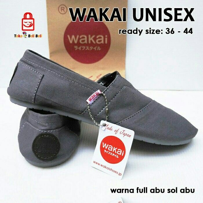MURAHHHH BINGITTT nihhh kak... Rebutan yukkkk jangan sampe keabisan !!!! Sepatu teplek yg cucok dipake kemana aja.. diborong yuk dear... banyak motif terbaru nih yg keceeeee...😍   WAKAI  Harga : 110.000,- Picture yang kami upload adalah hasil real picture ***Happy Shopping***   Fast Respons : LINE@ : http://line.me/ti/p/%40tokobelibeli Instagram : @tokobelibeli  #wakai #wakaimurah #wakaiunisex #jualsepatu #bestseller #sepatulokal #readystokjakarta  #hargakhususreseller  #stokrebutan