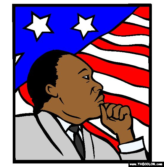 Coloring Sheet Of Martin Luther King Jr : 22 best flowers images on pinterest