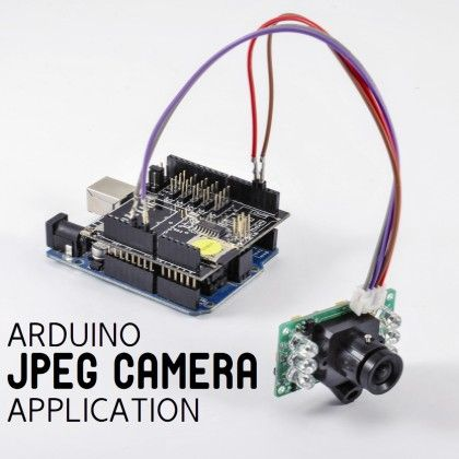 Let's equip Arduino with a serial-interface JPEG Camera with IR and try two…