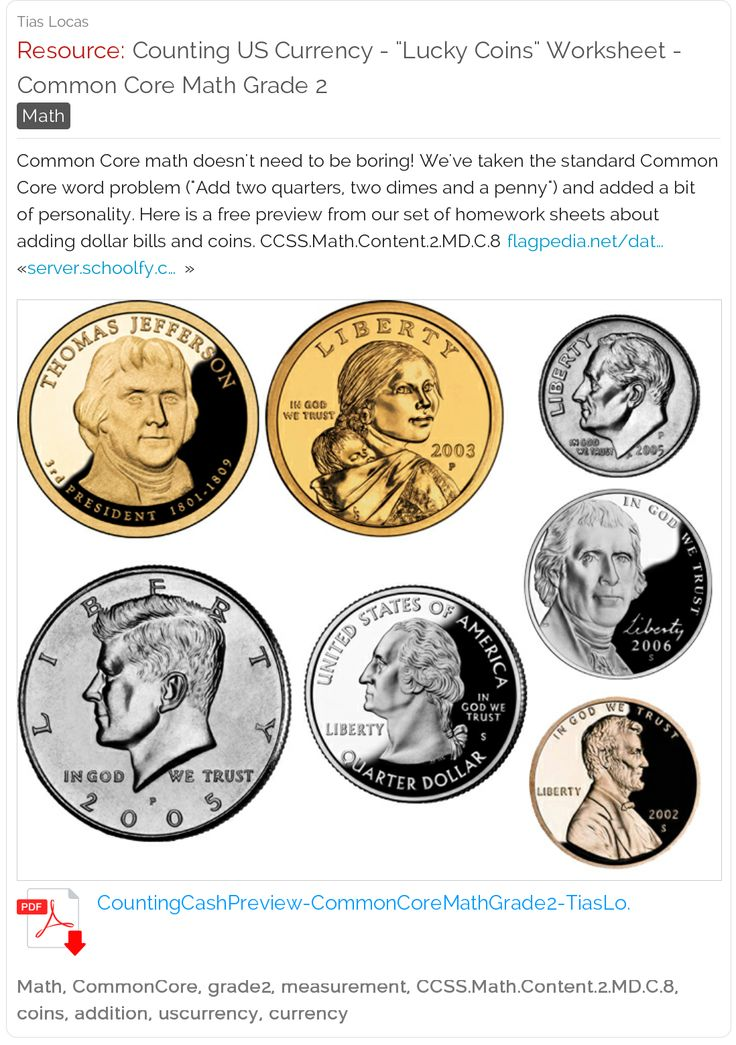 counting us currency free fun lucky coins worksheet with word problems common core math. Black Bedroom Furniture Sets. Home Design Ideas