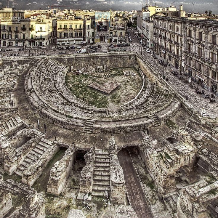 Lecce, Italy   roman anphitheatre in lecce / salento / puglia / italy by Paolo Margari