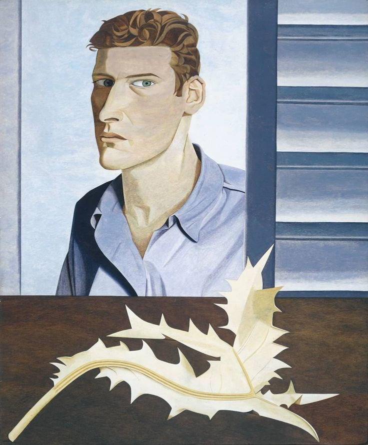 Lucien freud, Man with a Thistle (Self-Portrait), 1946, oil on canvas, 80 x 69 cm, Tate collection, London