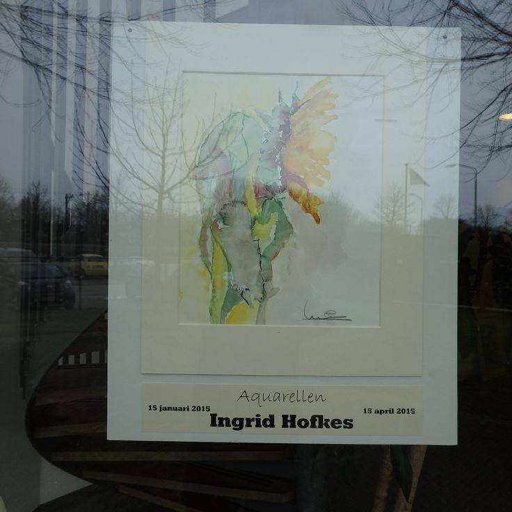 Affiche Tentoonstelling op 1 Lijn. -  Dordrecht.