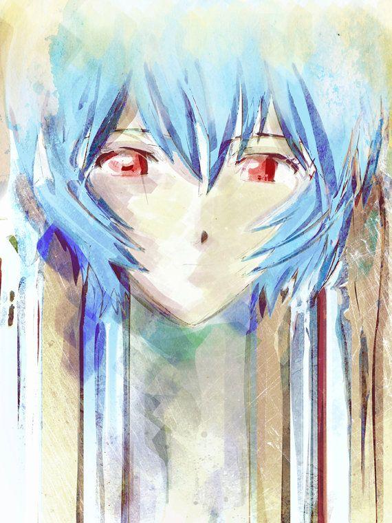 Rebuild of Evangelion Anime Ayanami Rei Portrait by barrettbiggers, $10.00