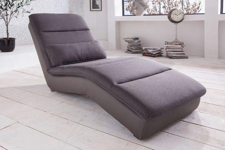 Yankee 5 Relaxliege D210 grey | Webstoff | All Senses | F180 mud