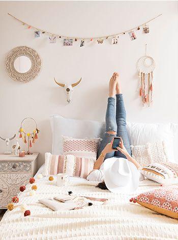 Chambre ado fille décoration ethnique colorée #chambreado - Bricolage A La Maison
