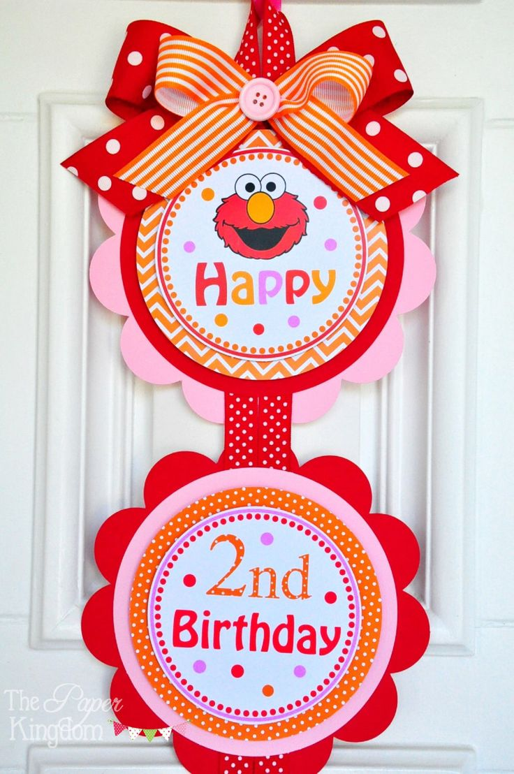 Elmo Door Sign, Elmo Vertical Door Sign, Girl Elmo Birthday Party Decorations by thepaperkingdom on Etsy https://www.etsy.com/listing/186568614/elmo-door-sign-elmo-vertical-door-sign