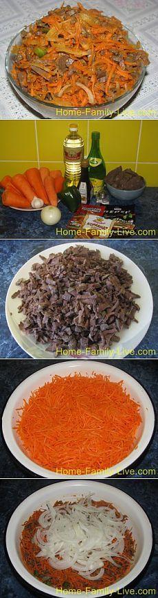 Салат из острой морковки с легким - пошаговое фотоКулинарные рецепты
