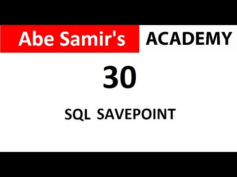 SQL SAVEPOINT in Oracle Database