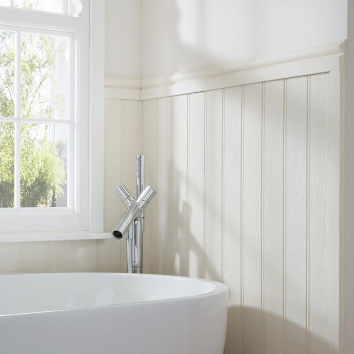 Choose Our Mdf Tongue And Groove Wall Panelling To Create A Refined Classic Look In A Home In 2020 Bathroom Cladding Bathroom Wall Cladding Tongue And Groove Walls