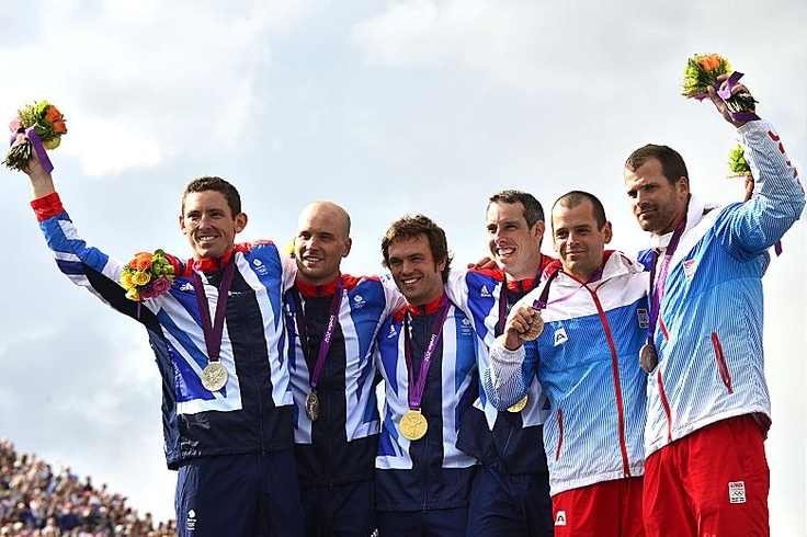 David Florence and Richard Hounslow, silver and Tim Baillie and Etienne Stott with gold