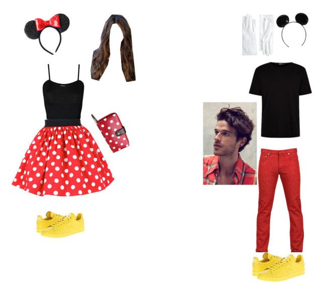 """""""Mickey and mini mouse costumes"""" by alypawli on Polyvore featuring WearAll, adidas, Dior Homme, Brooks Brothers, Disney, women's clothing, women's fashion, women, female and woman"""