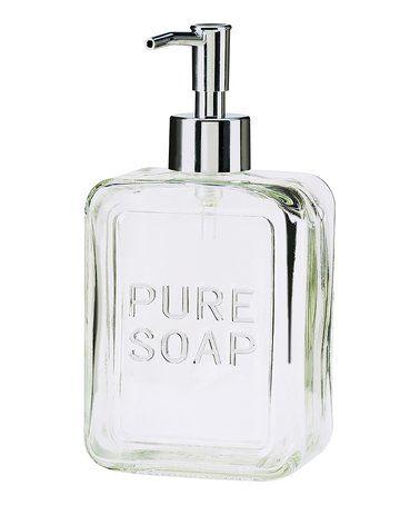 Look at this #zulilyfind! Pure Soap Glass Pump #zulilyfinds