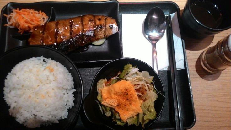 Salmon teriyaki full set at negiya, Citywalk, Sudirman