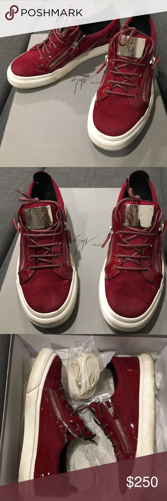 Giuseppe Zanotti mens shoes Red Giuseppe Zanotti mens shoes worn only a couple times. Giuseppe Zanotti Shoes Sneakers